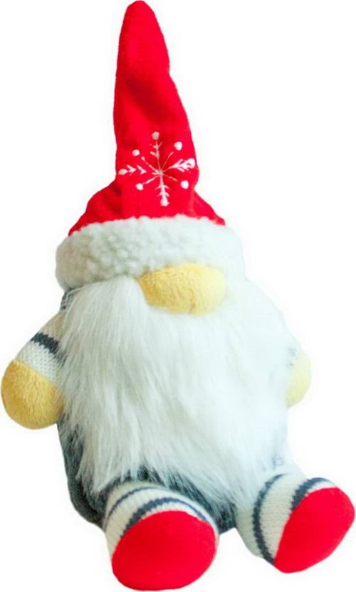 Petstages Fattiez Gnome Plush Holiday Dog Toy
