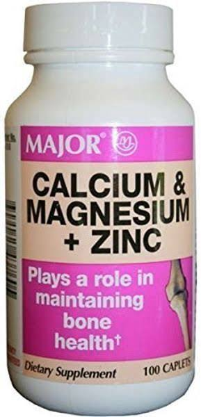 Major Calcium Magnesium + Zinc 100 Tablets