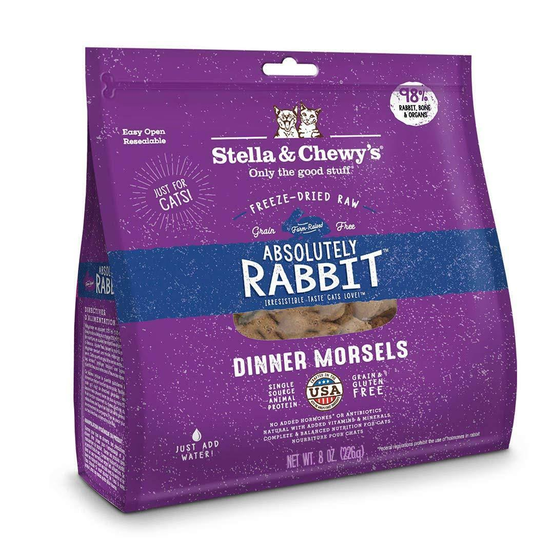 Stella & Chewy's Absolutely Rabbit Dinner Morsels Freeze-Dried Cat Food - 9 oz bag