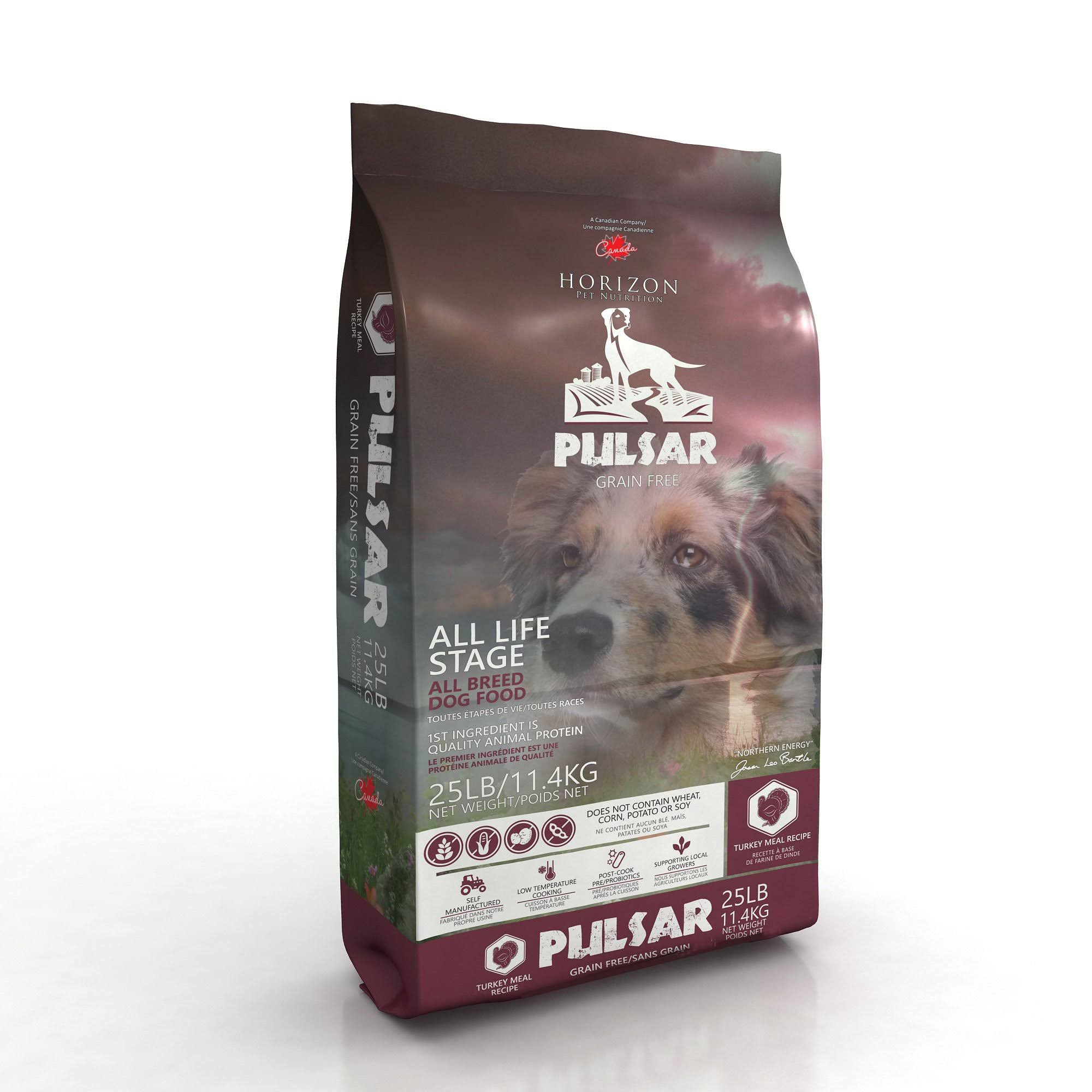 Horizon Pulsar Grain Free Turkey Formula Dry Dog Food - 25 Lbs