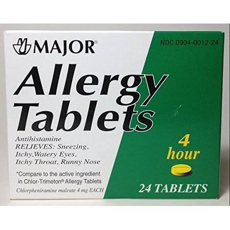Allergy Tablets Lasts 4 Hours 24 Tablets