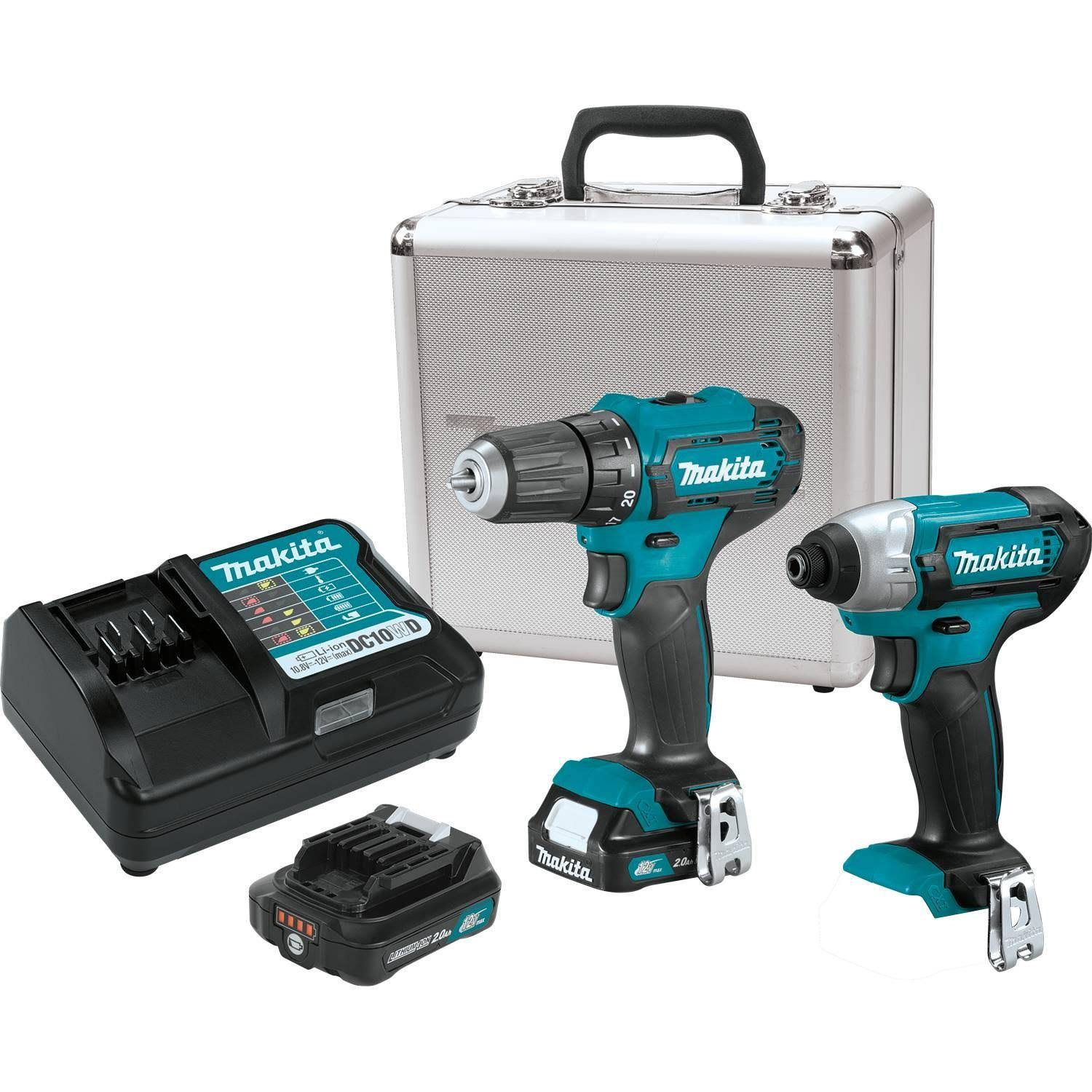 Makita-ct232rx 12V Max CXT Lithium-Ion Cordless 2-pc. Combo Kit (2.0
