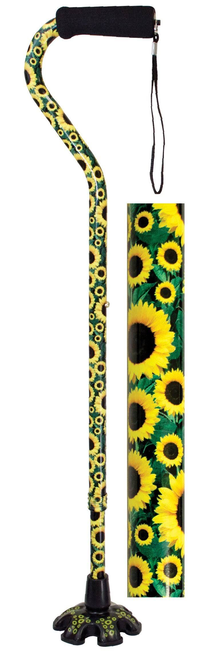 Essential Medical Supply Couture Offset Cane - Sunflower