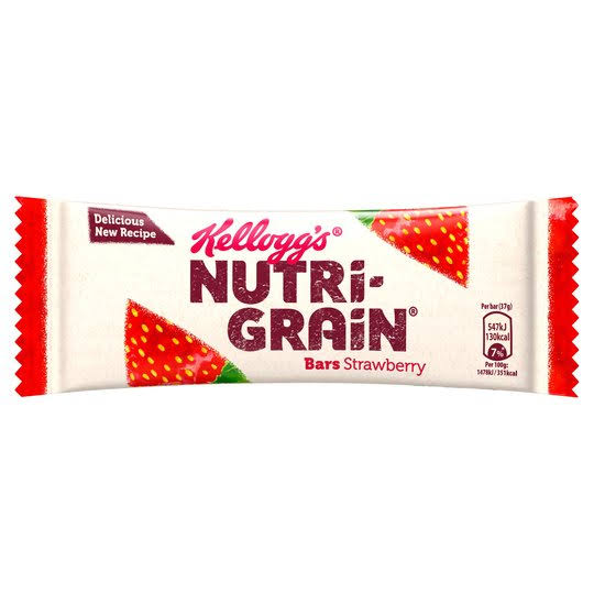 Kellogg's Nutri-Grain Breakfast Fruity Bars - Strawberry, 37g