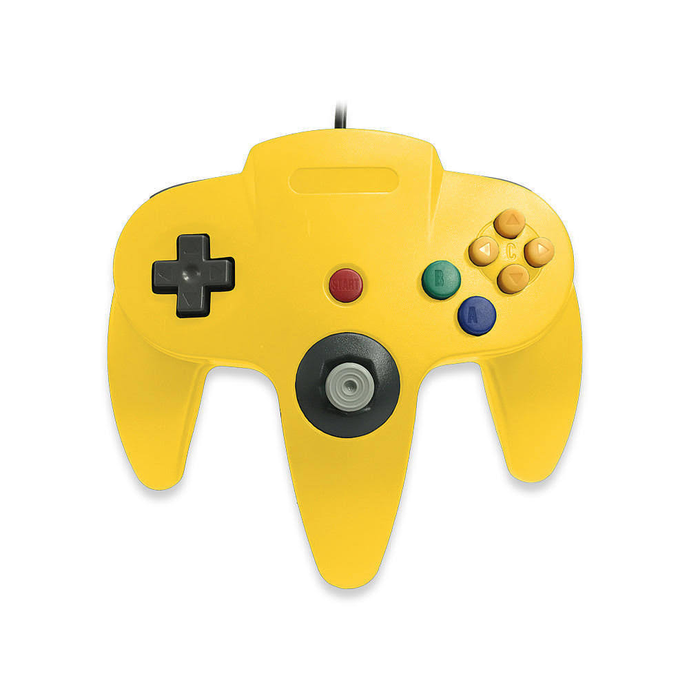 Skool Classic Wired Controller Joystick for Nintendo 64 N64 Game System - Yellow