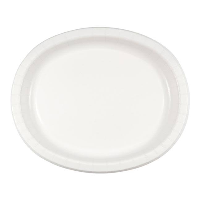 "Creative Converting Oval Paper Platters - White, 8ct, 10""x12"""