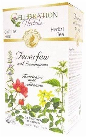 Celebration Herbals Organic Feverfew Caffeine Free Lemongrass Tea - 24ct