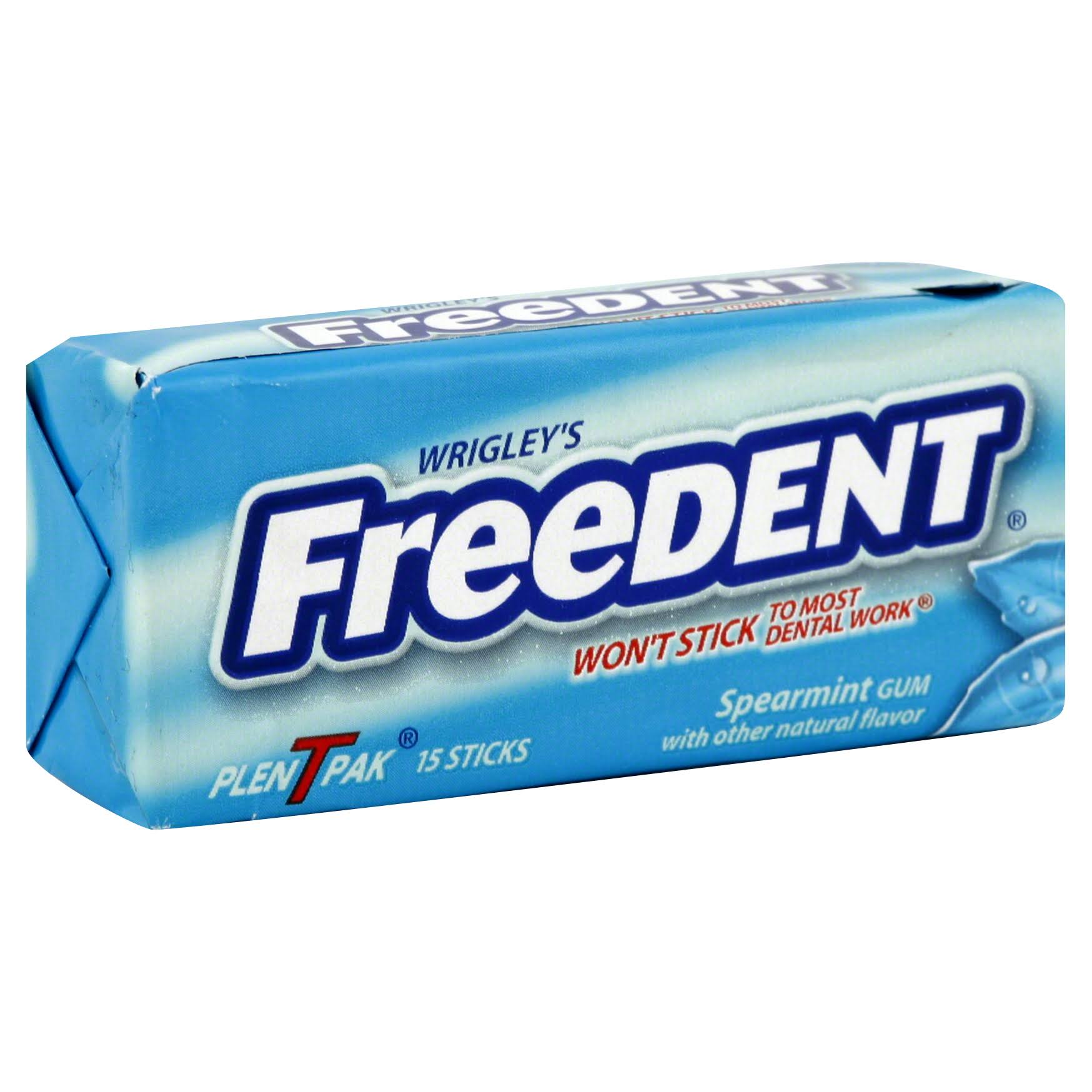 Wrigley's Freedent Gum - Spearmint, 15 Sticks