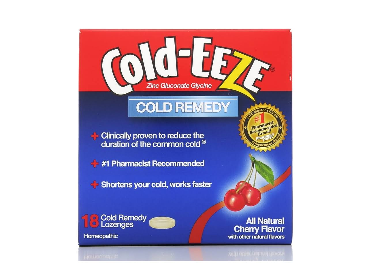 Cold-Eeze Homeopathic Cold Remedy Lozenges - All Natural Cherry Flavor, x18