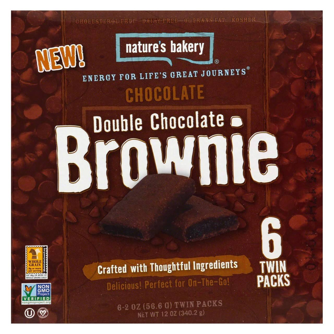 Nature's Bakery Brownie - Double Chocolate, 2 oz, 6ct
