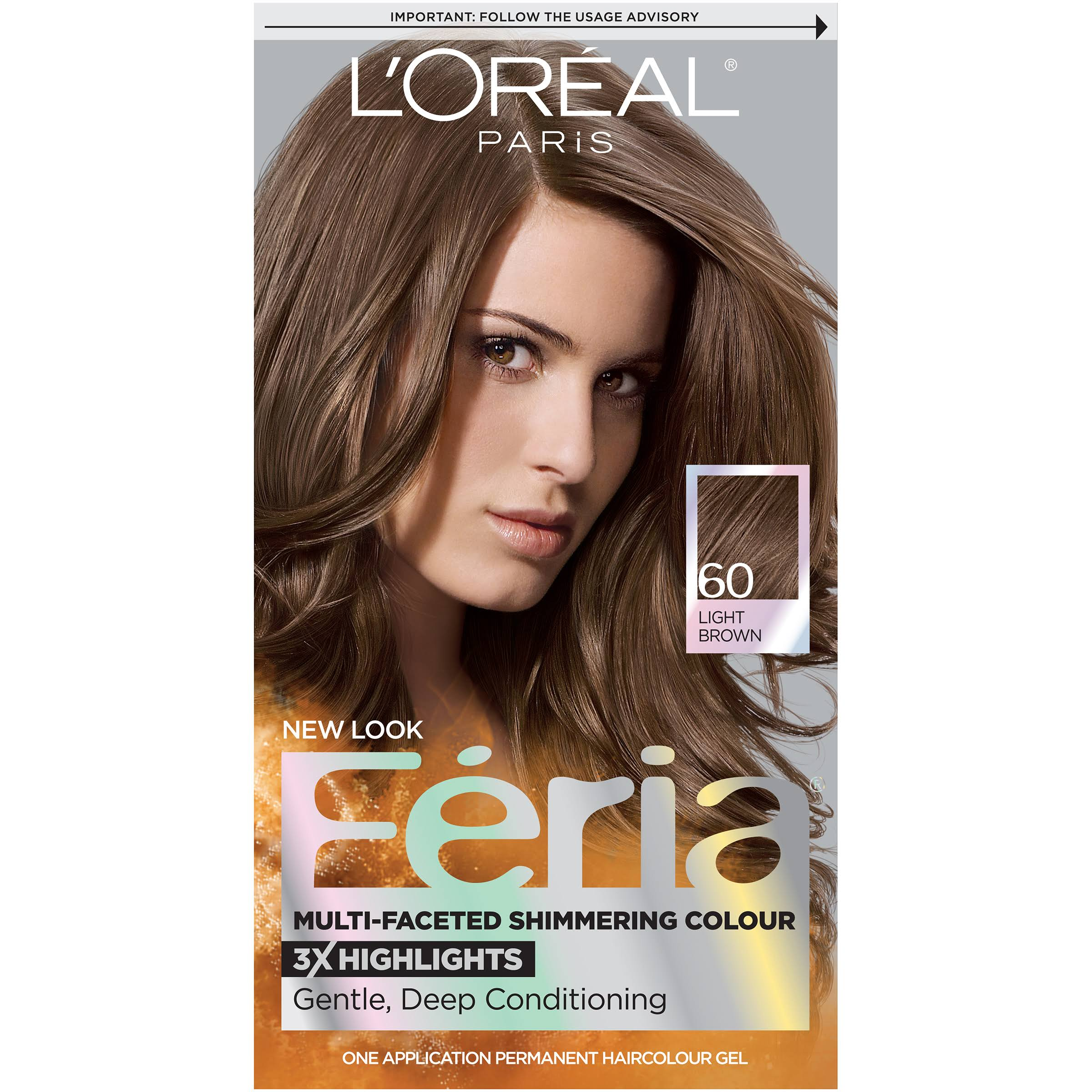 L'Oreal Paris Feria Permanent Hair Color - 60 Light Brown