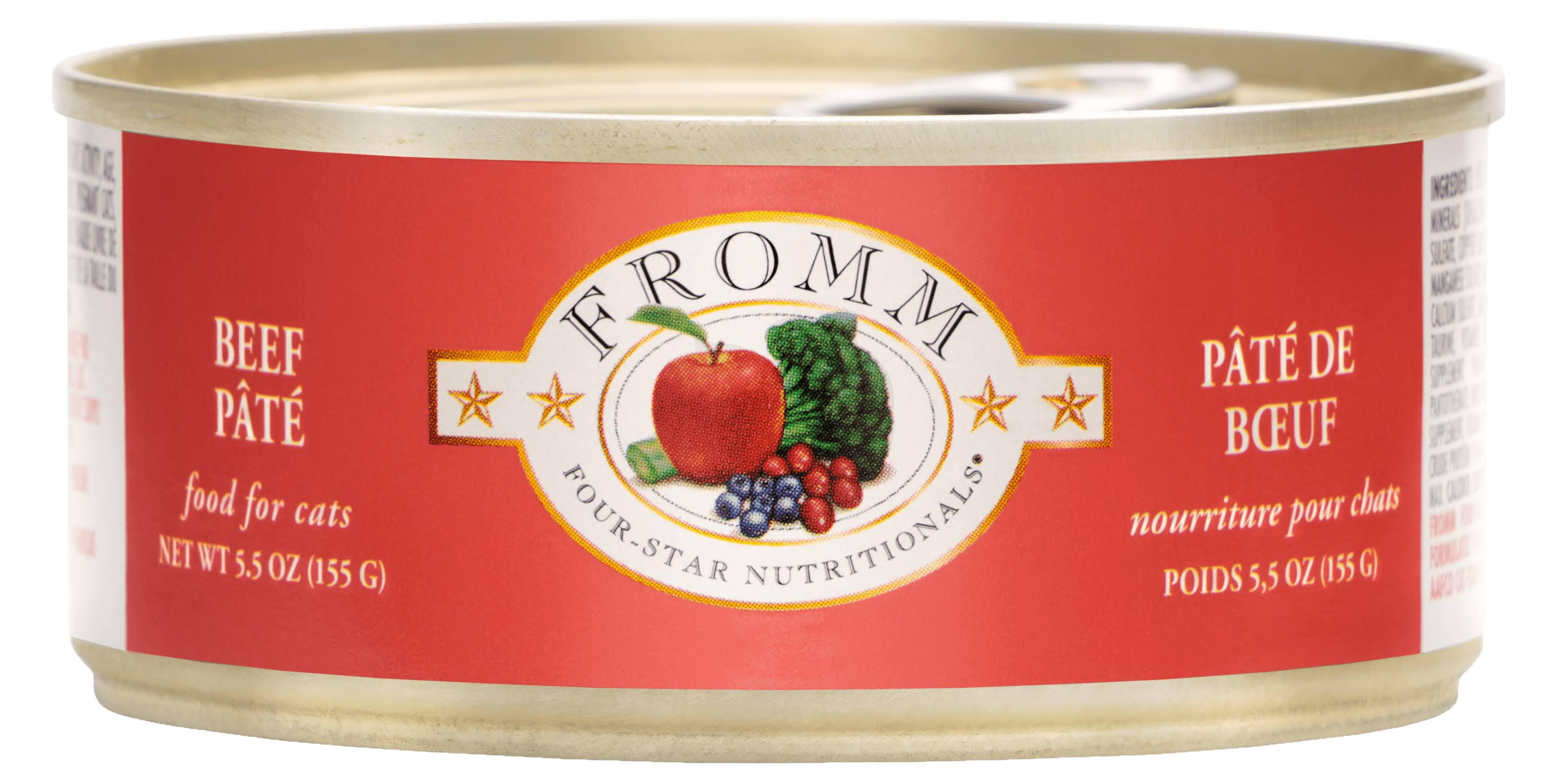 Fromm 4 Star Canned Cat Food - Beef, 5.5 oz