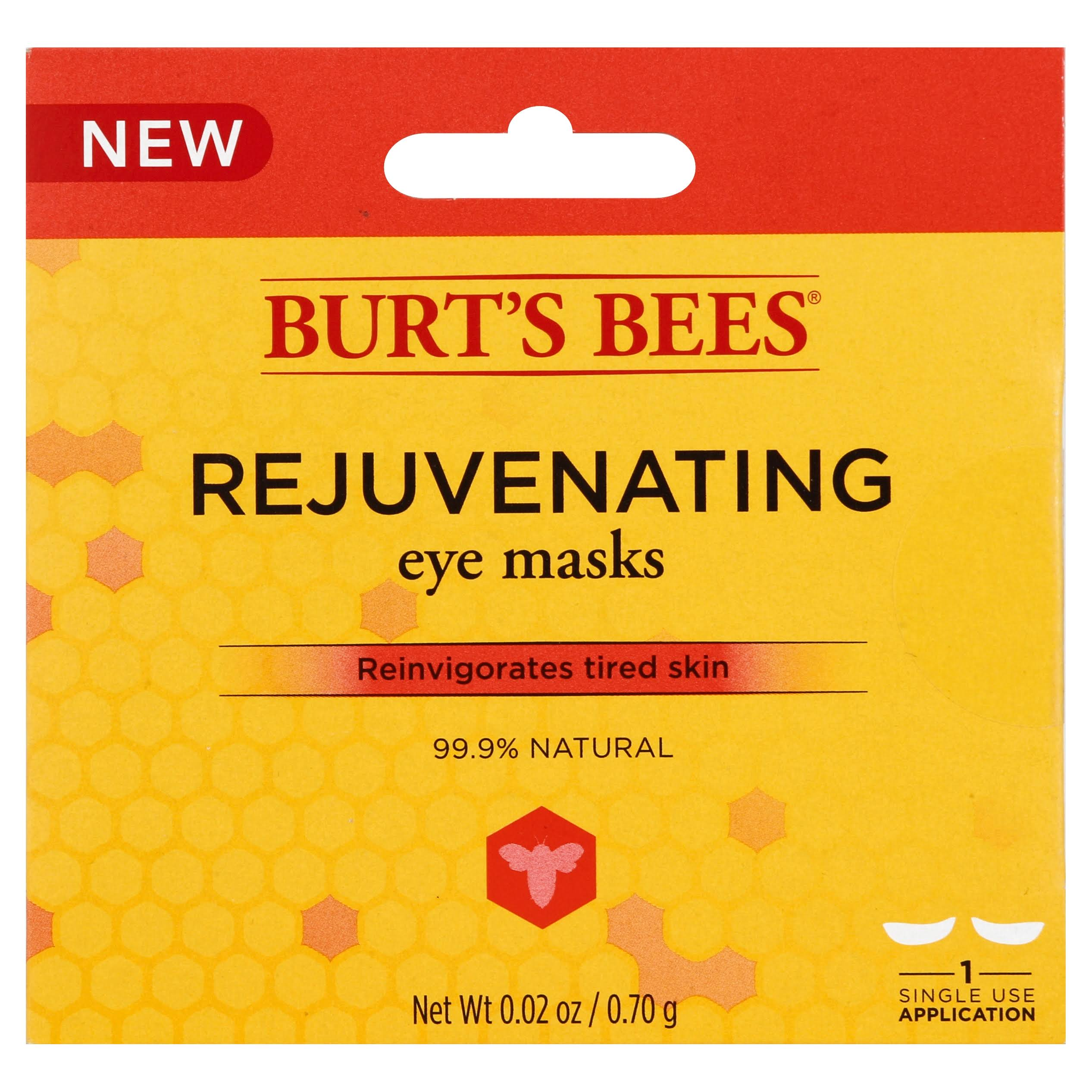 Burt's Bees Rejuvenating Eye Mask, 0.02 oz 1 Single Use