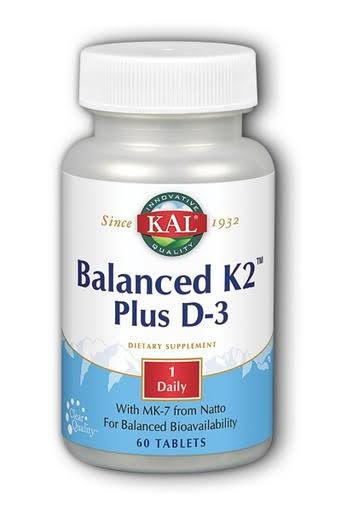 KAL Balanced K2 Plus D3 Dietary Supplement - 60ct