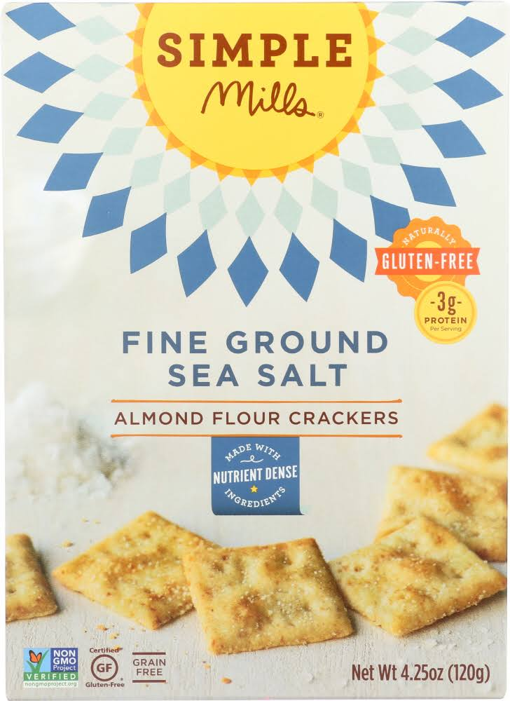 Simple Mills Fine Ground Sea Salt Almond Flour Crackers - 120g