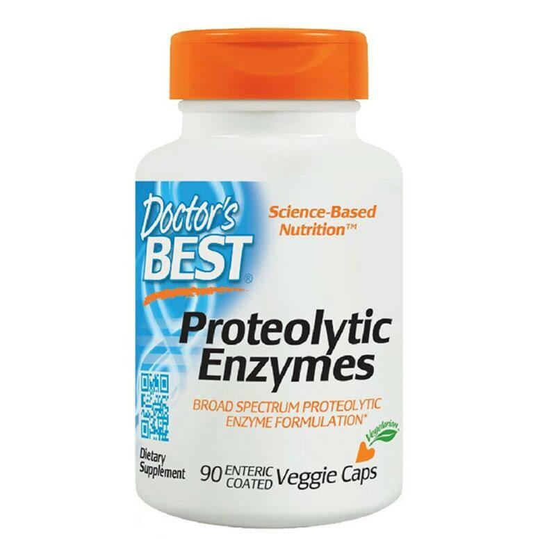 Doctor's Best Proteolytic Enzymes Food Supplement - 90 Veggie Caps