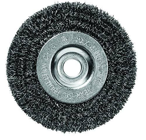 Century Drill and Tool Coarse Crimped Bench Grinder Wire Wheel - 5""