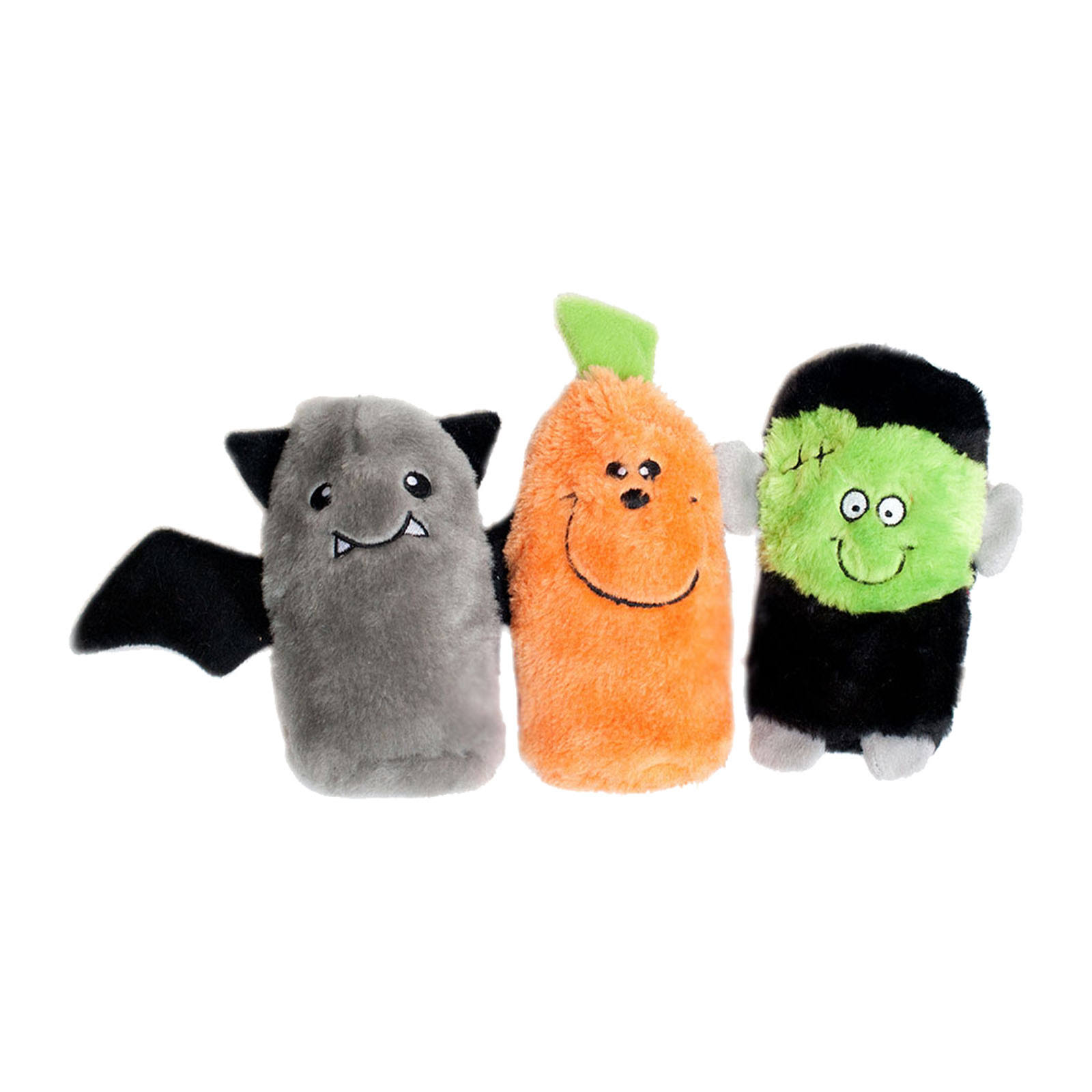 ZippyPaws Halloween Squeakie Buddies Squeaky Plush Dog Toy - 3pcs, No Stuffing