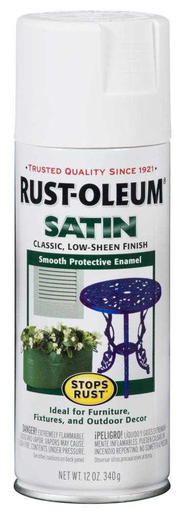 Rust-Oleum Stops Rust Satin Spray Paint - White