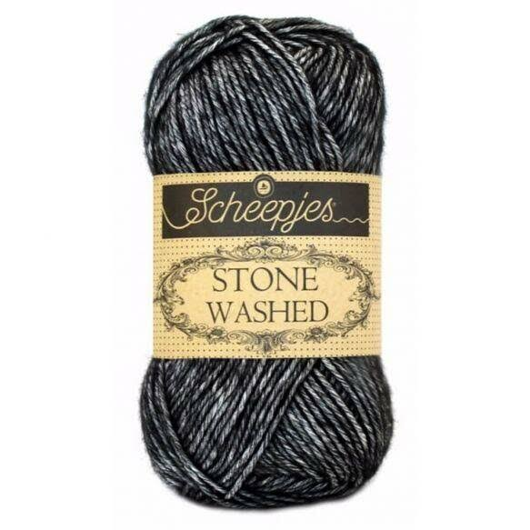 Scheepjes Stone Washed Yarn - 803 Black Onyx