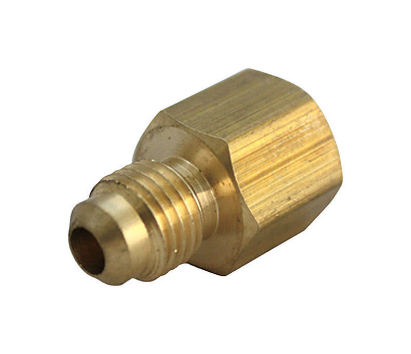 JMF Yellow Brass Flare Adapter - 3/8in Flare x 3/8in FPT