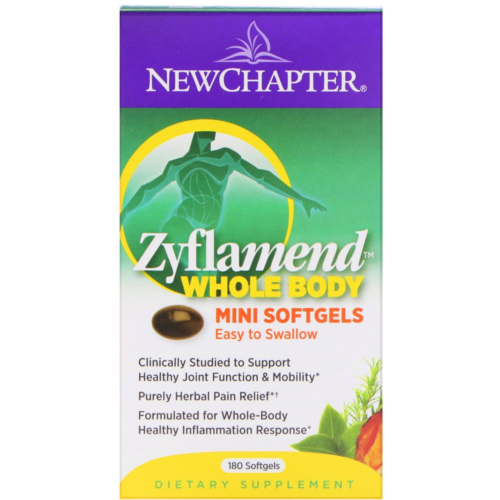 New Chapter Zyflamend Tiny Caps Easycaps Dietary Supplement - 180ct