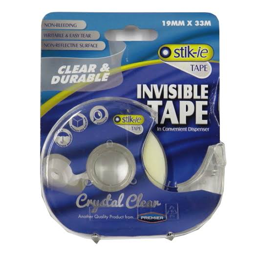 Crystal Clear Stik-ie Invisible Tape in A Dispenser