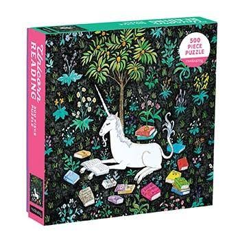 Unicorn Reading 500 Piece Family Puzzle - Mudpuppy & Steph Terao