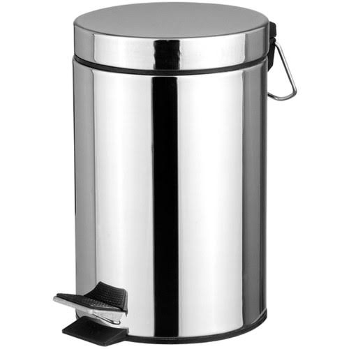 Home Basics Stainless Steel Waste Basket - 20L