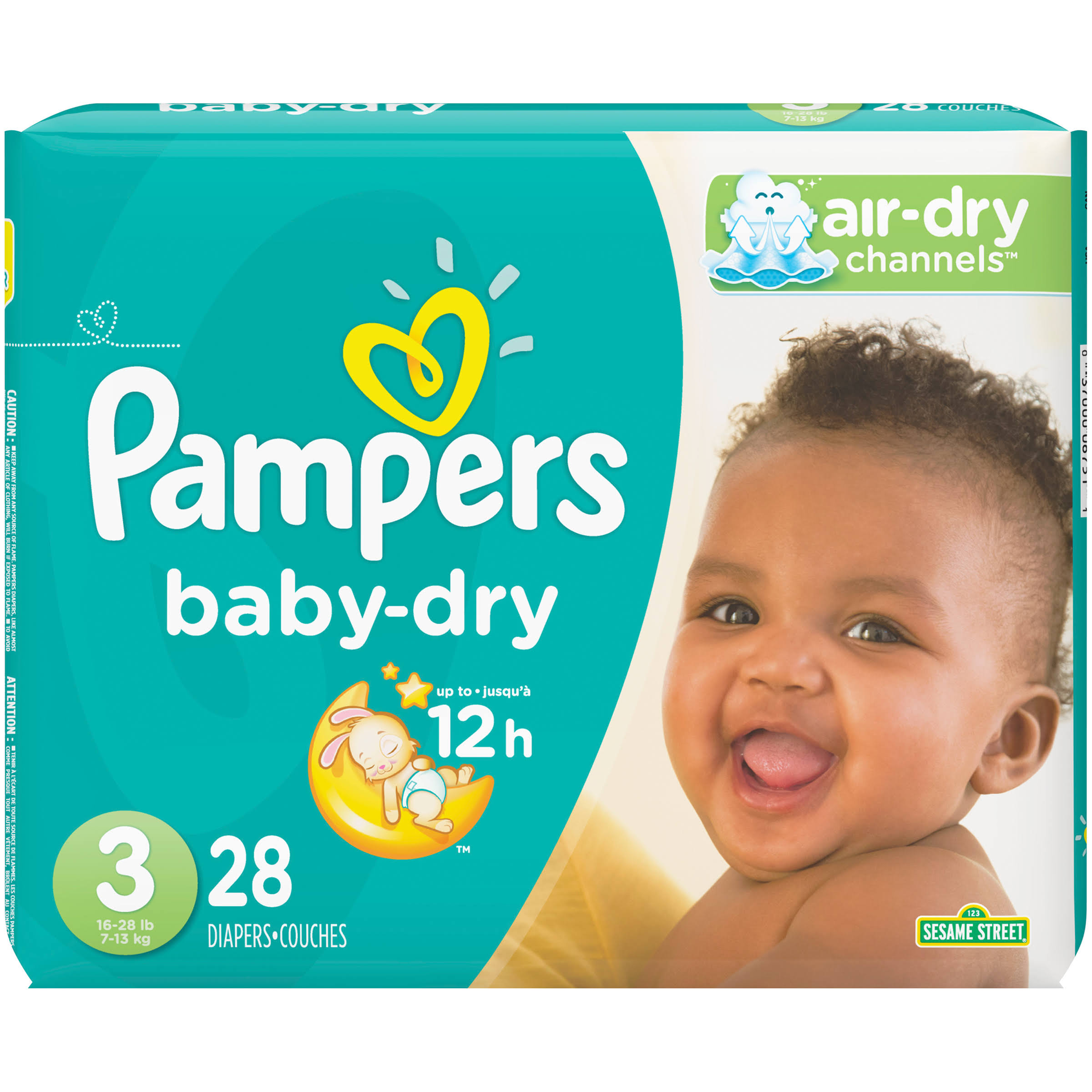 Pampers Baby Dry Diapers - Size 3, 28ct