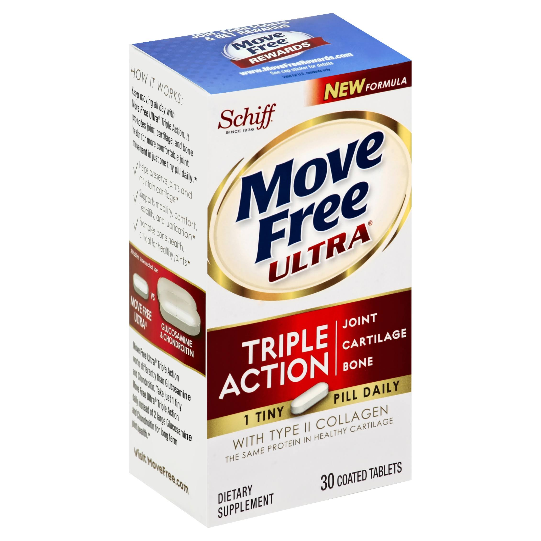 Schiff Move Free Ultra Dietary Supplement - 30 Tablets