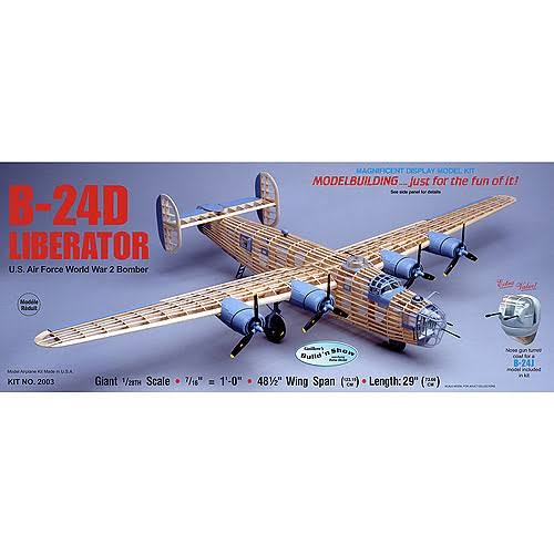 Guillows B-24d Liberator 2003 Balsa Display Model Kit