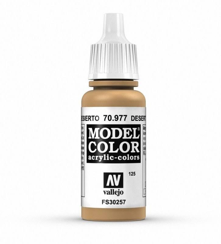 Vallejo Model Color Paint - Desert Yellow, 17ml