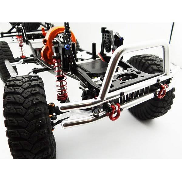 Hot Racing Tubular Front Bumper w/ Winch and Light Mount