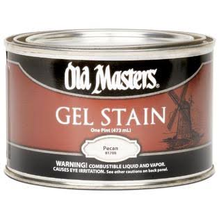 Masters 81708 Oil Based Gel Stain - 1 Pint, 817 Pecan