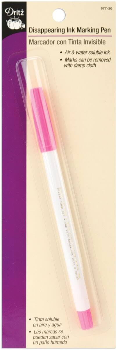 Dritz Disappearing Ink Marking Pen - Pink