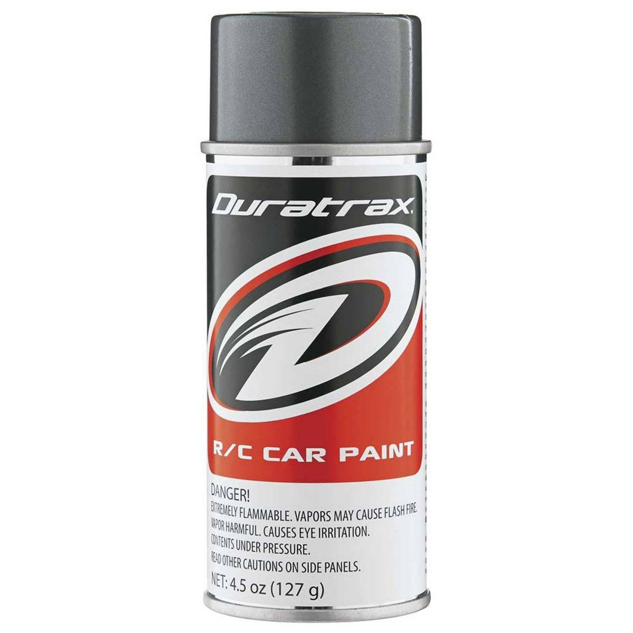Duratrax Polycarbonate Radio Control Vehicle Body Spray Paint - 4.5oz, Gunmetal