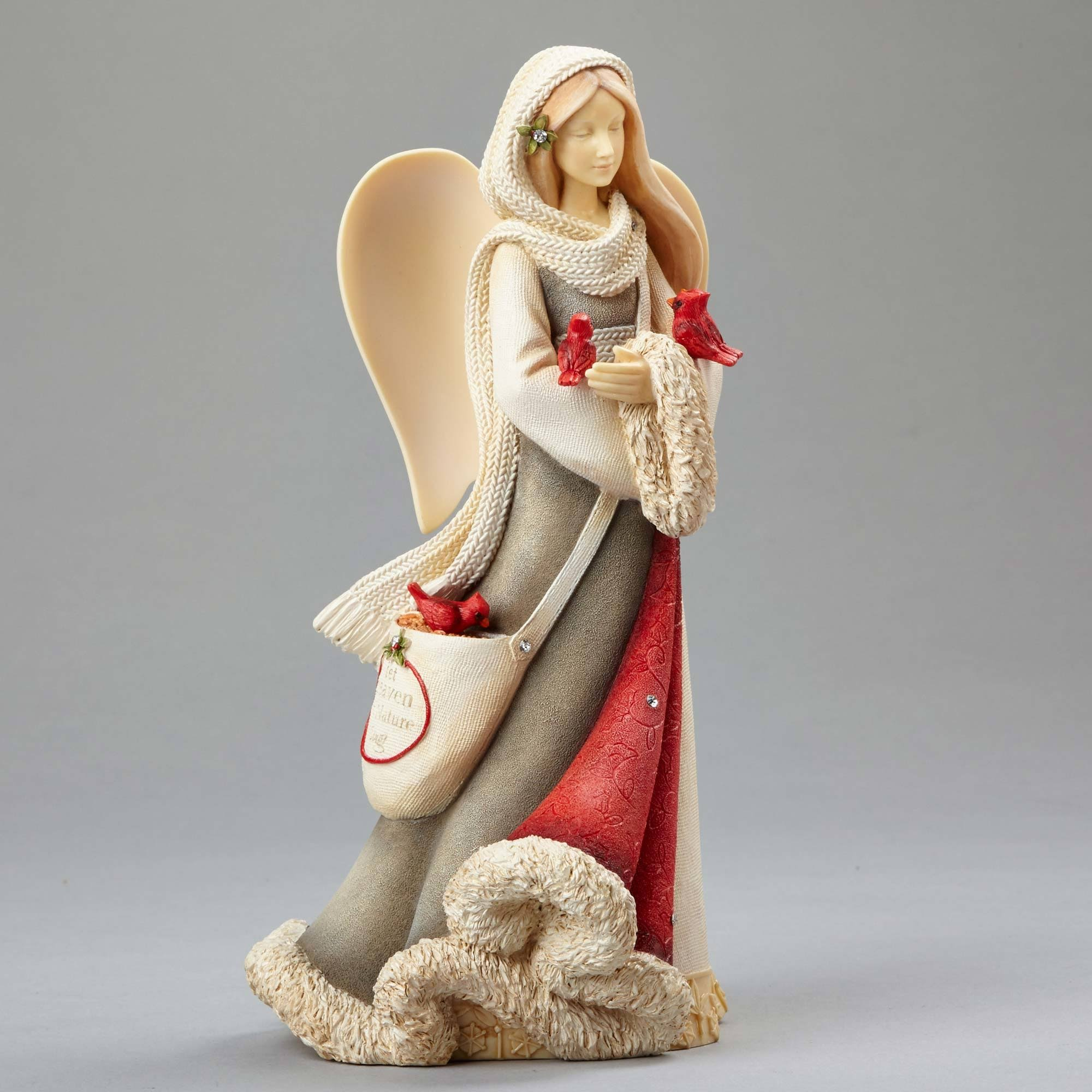 Enesco Angel with Cardinals