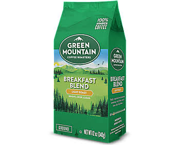 Green Mountain Coffee Light Roast Breakfast Blend Ground Coffee - 12oz
