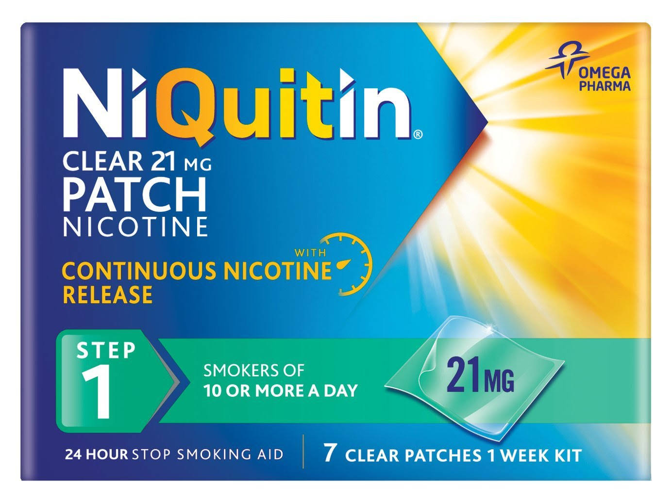 NiQuitin Step 1 Clear Patch - 7 Patches, 21mg