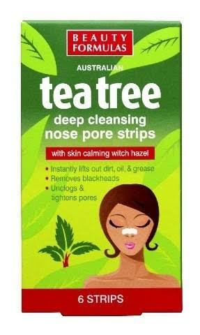 Beauty Formulas Australian Tea Tree Deep Cleansing Nose Pore Strips - 6 Strips