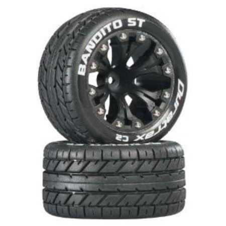 Duratrax DTXC3540 - Bandito ST 2.8 inch Truck 2WD Mounted Front C2 Black (2)