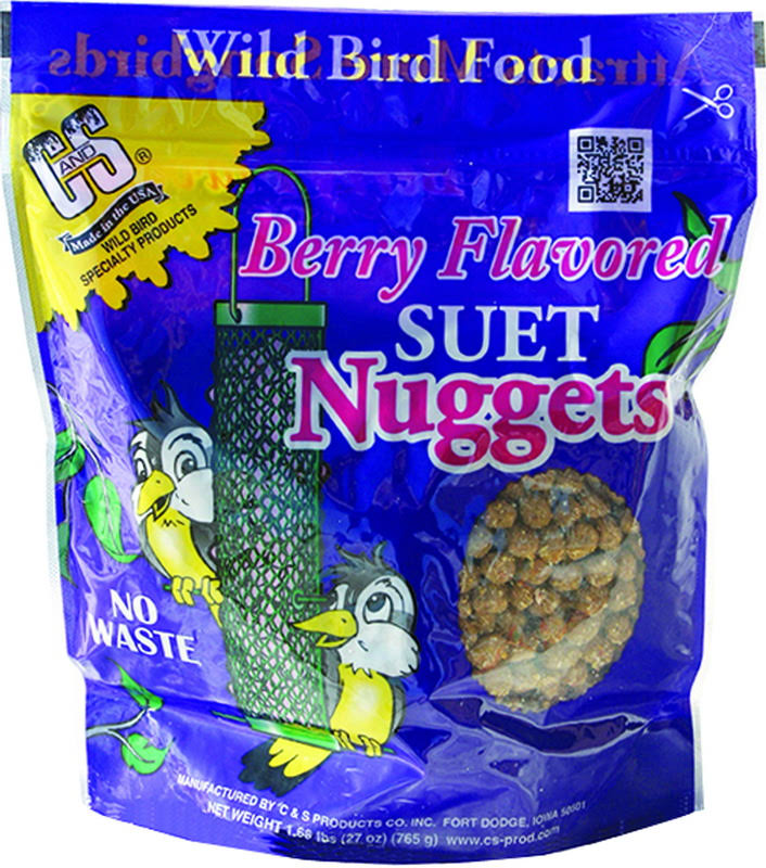 C &S Products Suet Nuggets - Berry, 27oz