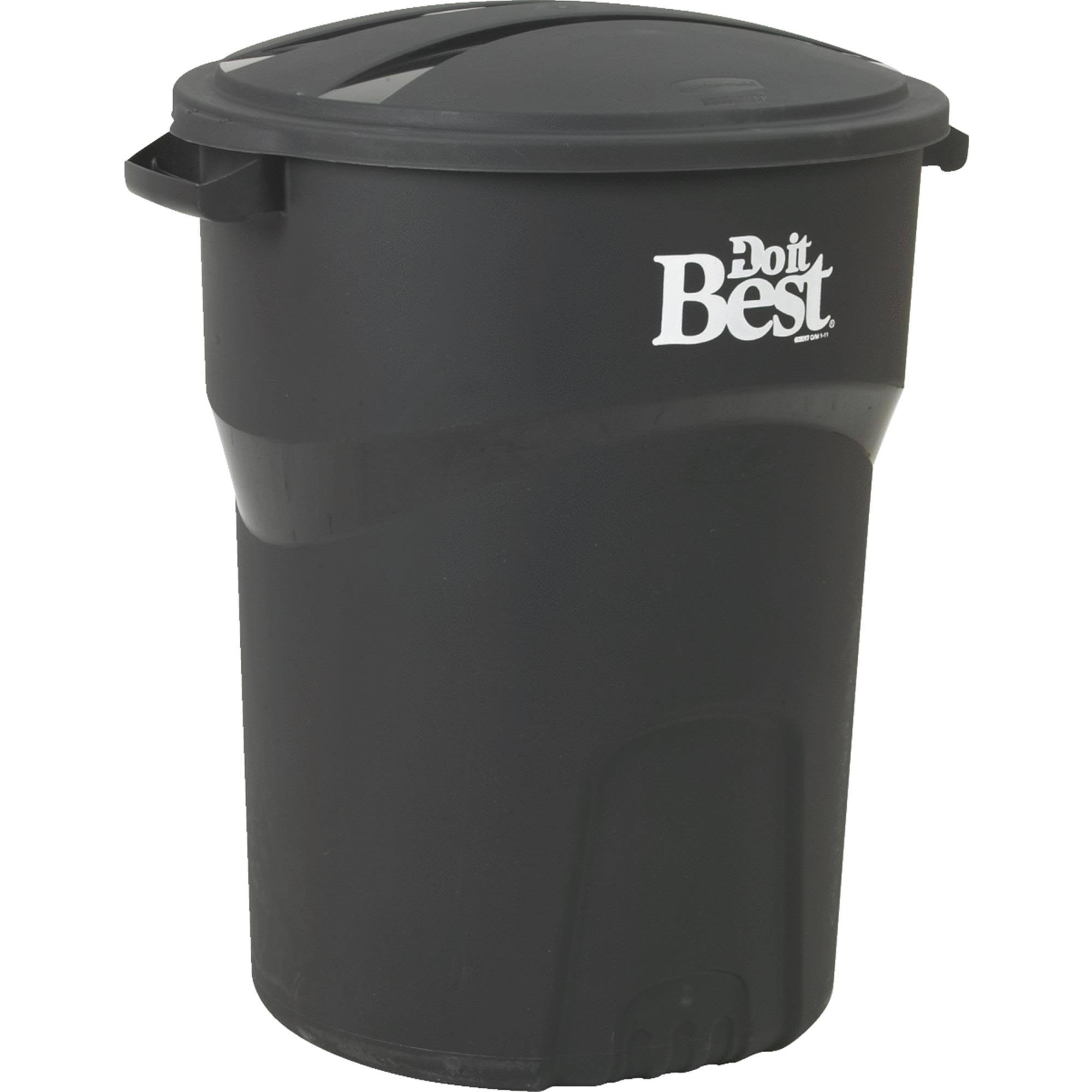 Rubbermaid Trash Can - Black, 32gal