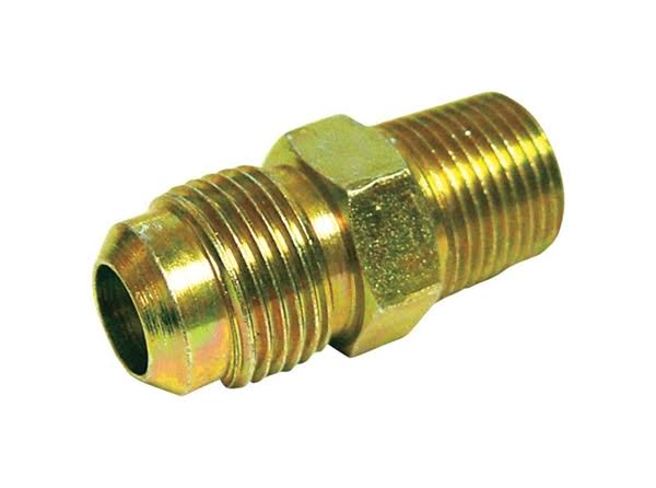 JMF 3/8 in. MPT Dia. x 3/8 in. MPT Dia. Brass Lead-Free Flare Connector