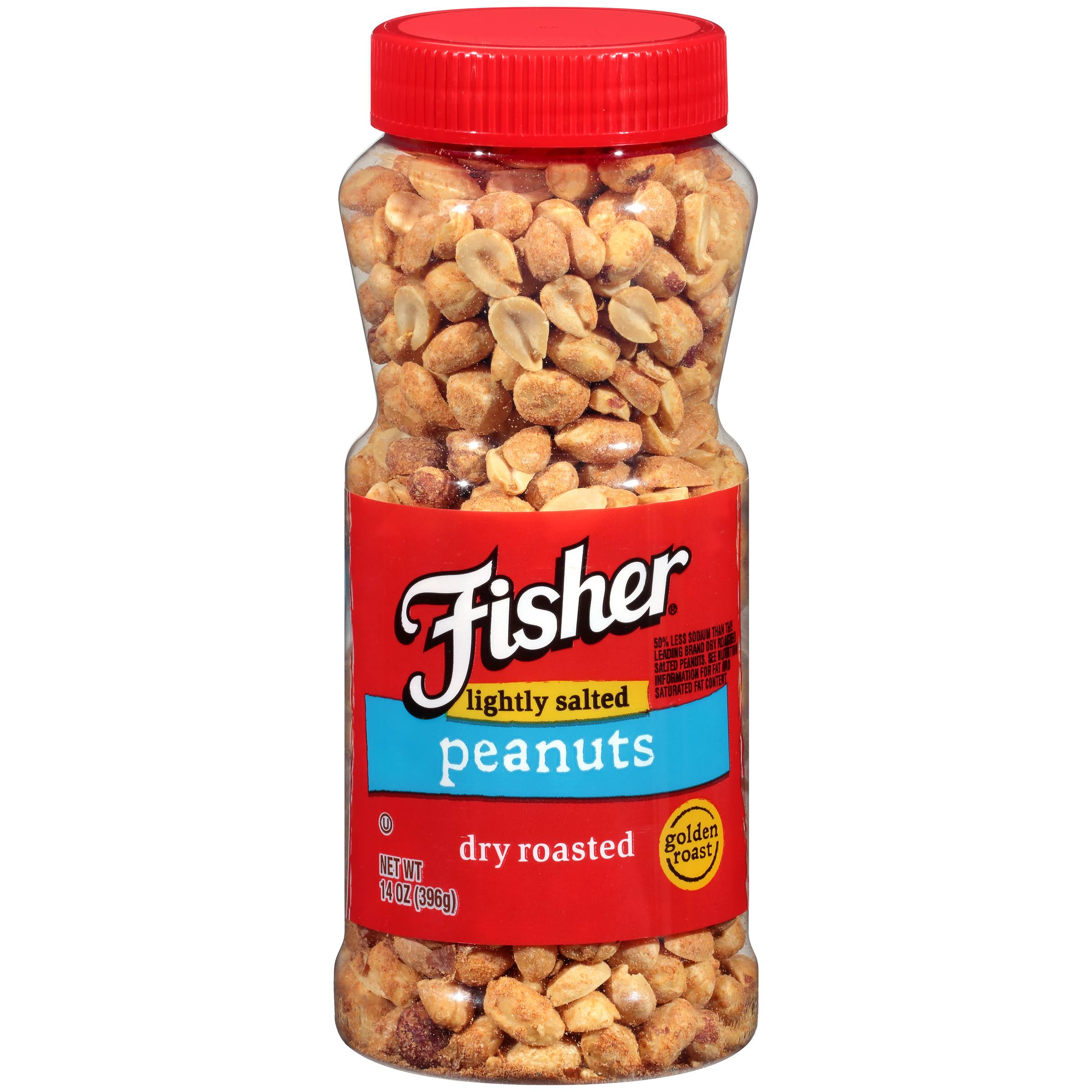 Fisher Dry Roasted Lightly Salted Peanuts - 14oz