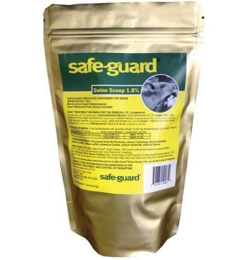 Merck Animal Health Safe-Guard 1.8% Swine Scoop Dewormer - 1 lb bag