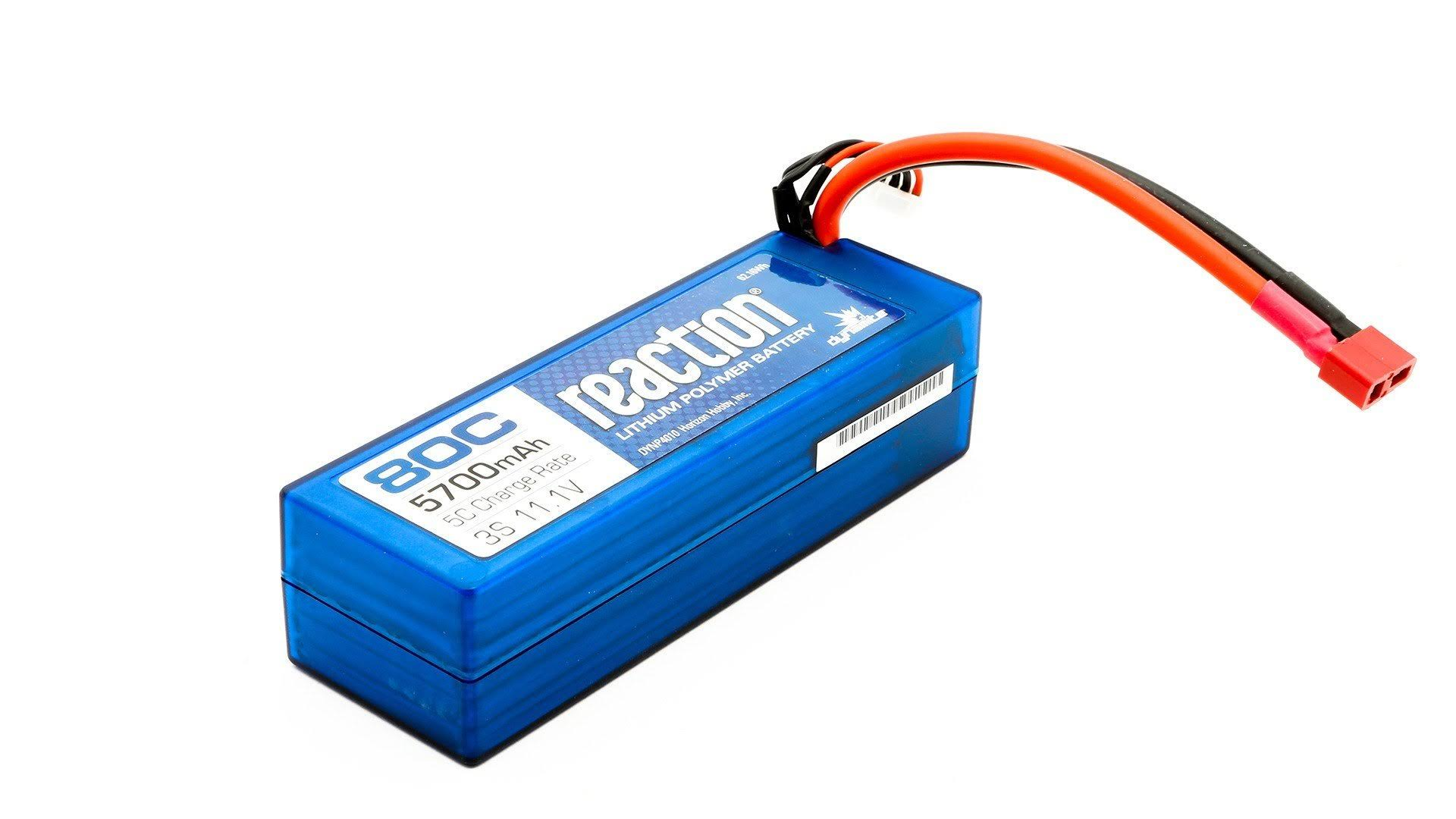 Dynamite Reaction 3s 80c Lipo Battery - 11.1V, 5700mah