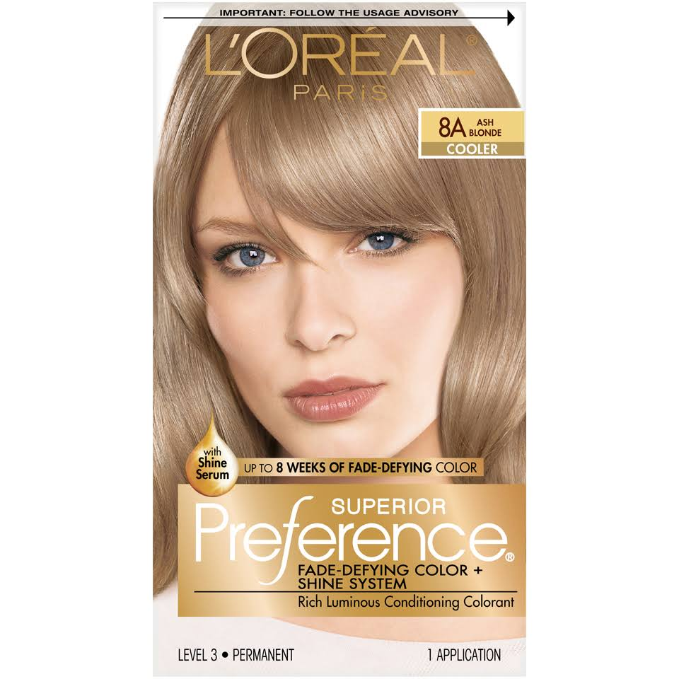 L'Oréal Paris Superior Preference Cooler Rich Luminous Conditioning Colorant - 8A Ash Blonde