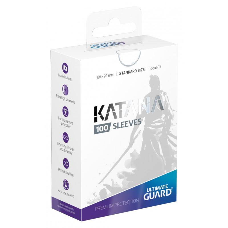 Ultimate Guard Katana Sleeves - Standard Size, White, 100ct